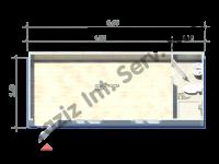 حاويات منصات حكيم 2.4*6=14.4 متر مربع